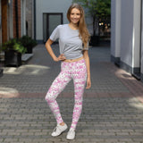 Pink Funny Dogs on leggings for women - Dog Mom Apparel