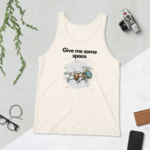 Give Me Some Space Unisex Tank Top, Cream