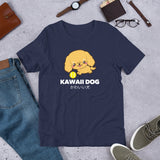 Kawaii Dog Corker Spaniel, Short-Sleeve Unisex T-Shirt, Navy