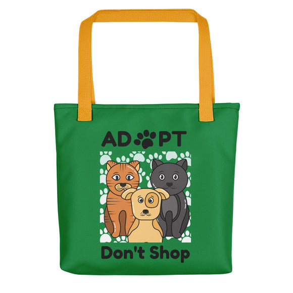 Adopt Don't Shop Green Tote Bag for Dog Lover