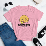 Kawaii Dog Corker Spaniel on Women's Short Sleeve T-Shirt
