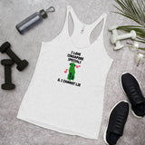 I Love Singapore Specials & I Cannot Lie Women's Racerback Tank, Grey
