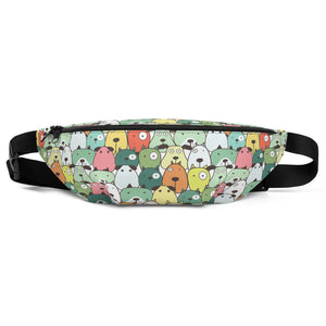 Funny Dogs Green Fanny Pack