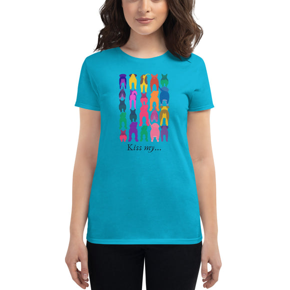 Kiss My....Women's short sleeve t-shirt, Blue