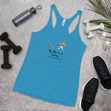 My Dog Is In Training Women's Racerback Tank, Blue