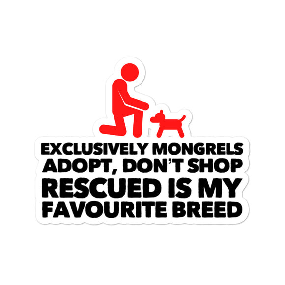 Exclusively Mongrels - Bubble-Free Stickers