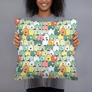 Crazy Dogs Green Premium Pillow