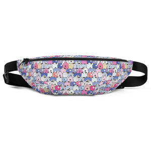 Funny Dogs Purple Fanny Pack