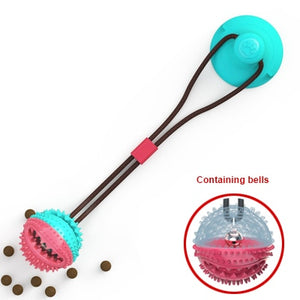 Tug-of-War Silicon Suction Cup Toys For Dogs with Teeth Cleaning Toothbrush