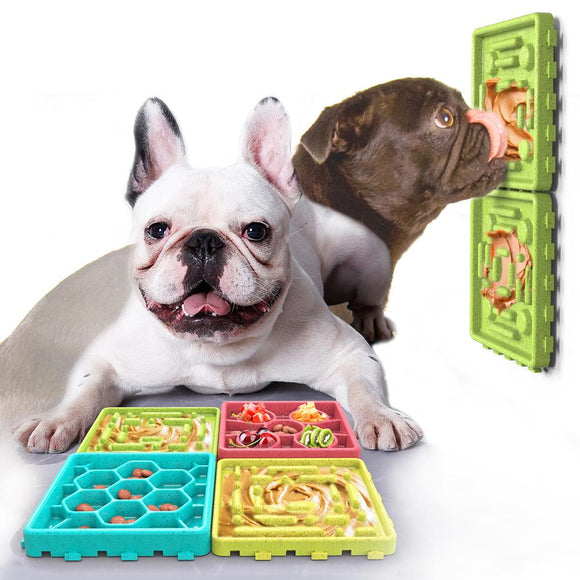 Dog Licking Trays, Slow Eating Bowl, Pet Slow Treater Bowl, Interactive Pet Toy