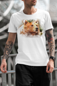 Bear Face Full Color Sublimated Polyester T-shirt