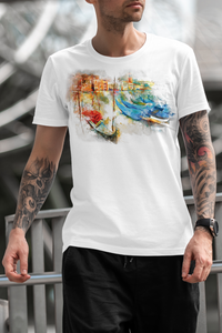 City Boats Canadian Theme Sublimated Polyester T-shirt