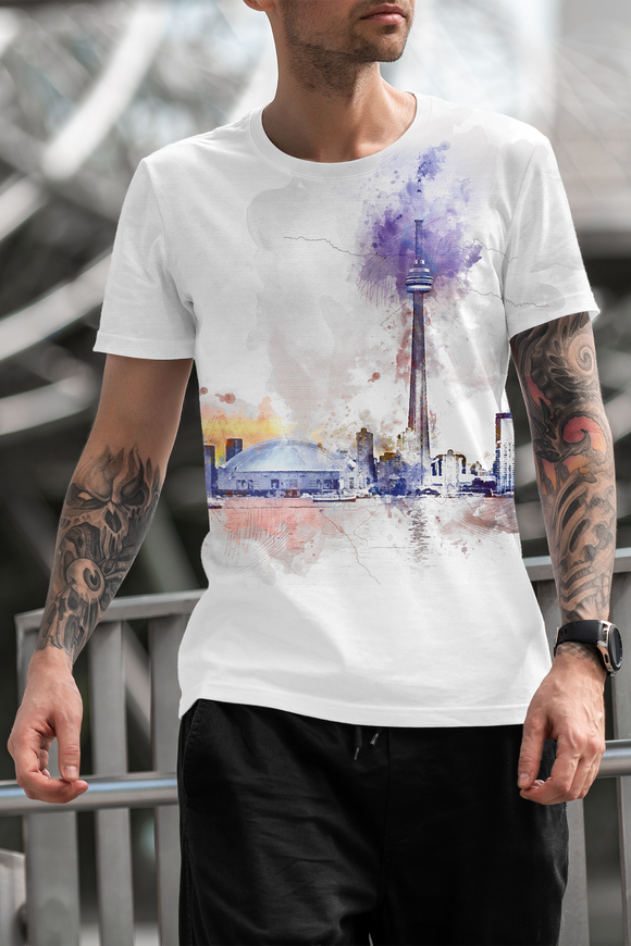 Toronto Color Sublimated Polyester T-shirt Design