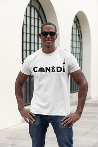 CANADA Text In Graphic Style - Unisex Cotton T-shirt