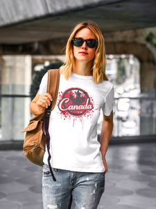 Cotton Tee Canada Drip Design