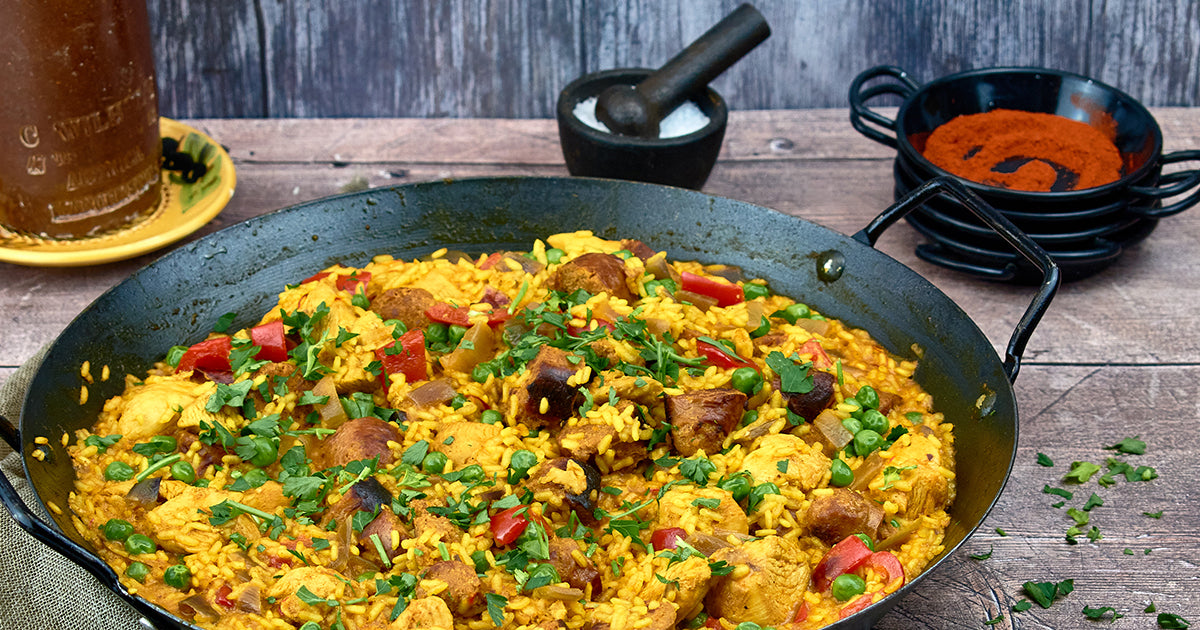 Chicken and Chorizo Paella Recipe