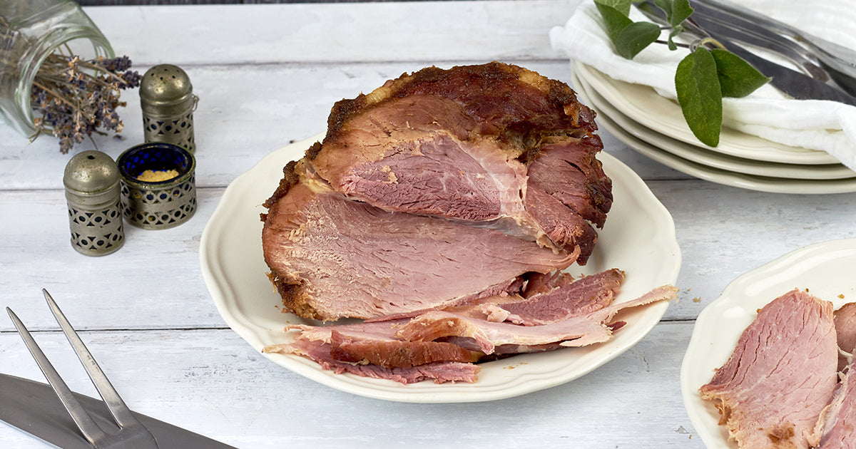 Gammon with Pineapple and Spiced Rum Glaze