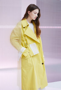 HANGING POCKET TRENCH COAT