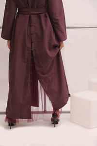 BUTTONS DETAILED ABAYA-TRENCH COAT