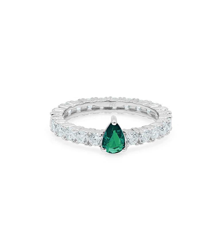 GREEN DROPPED ETERNITY BAND