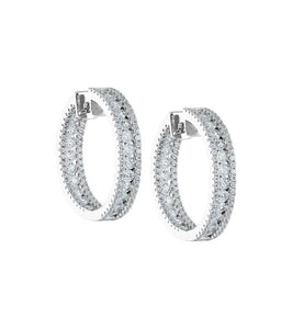 FRAME HOOP EARRINGS