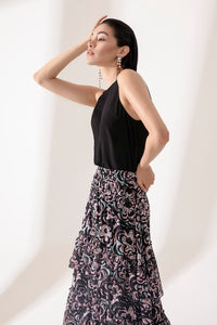 LAYERED PRINTED SKIRT