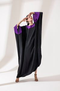 ABAYA WITH COLORED TRIM
