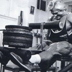 Tom Platz building his stumps