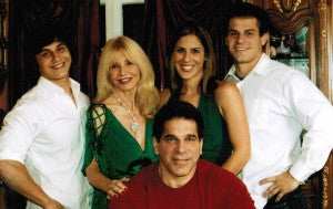 left to right: brent, carla, shanna, louie jr. and lou