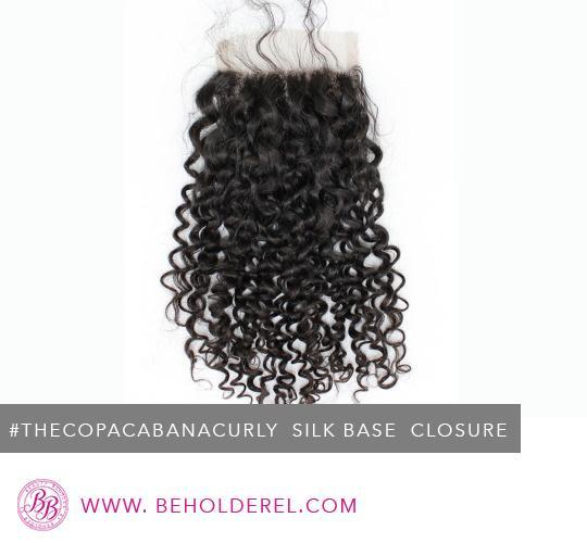 Brazilian Curly Silk<br>Base Closure<br>( The Copacabana Curly Silk Base Closure )