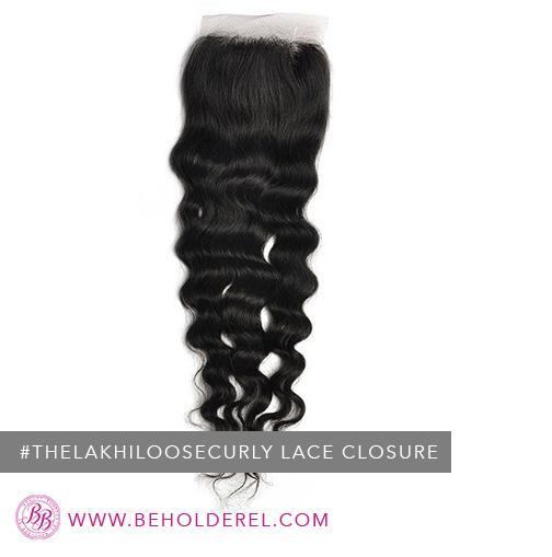 Indian Loose<br>Curly Closure<br>(The Lakhi Loose Curly Lace Closure)