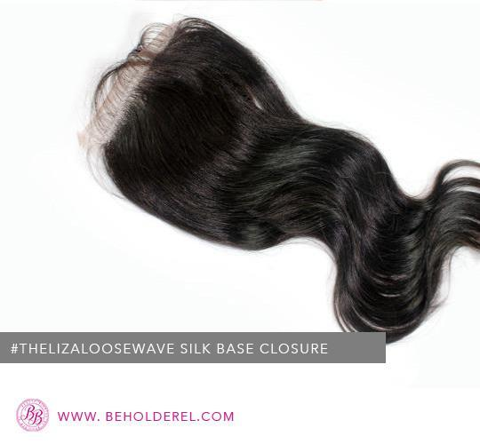 Malaysian Loose Wave Silk<br>Base Closure <br>(The Liza Loose Wave Silk Base Closure )
