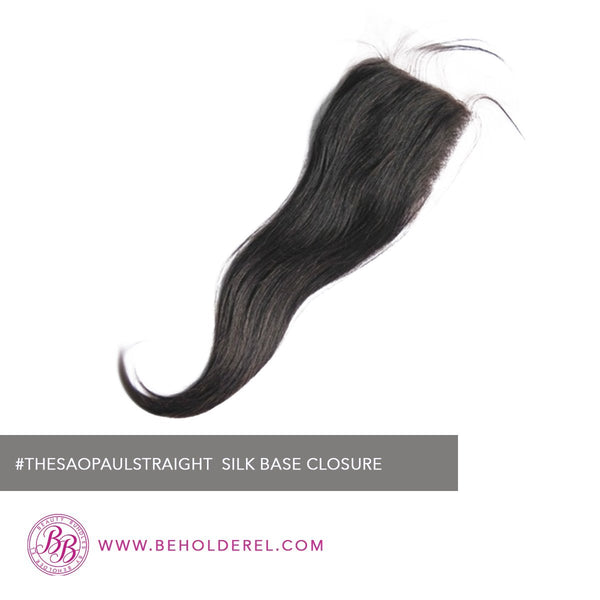 Brazilian Silk<br>Base Closure <br>(The Sao Paulo Straight Silk Base Closure )