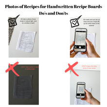 Load image into Gallery viewer, Handwritten Recipe Boards