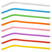 Load image into Gallery viewer, Eco Friendly Silicon Smoothie Straw - Narrow