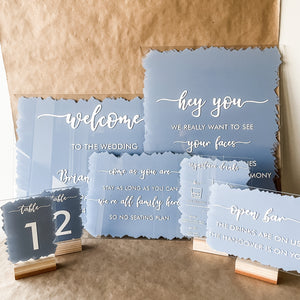 Custom Acrylic Wedding Signs