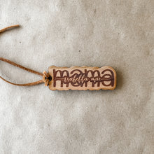 Load image into Gallery viewer, Custom Laser Engraved Mama + Kids Names Wooden Bag Tag