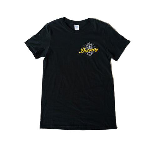 ** 30% off Sale ** Discovery Coffee Black Lantern Tee