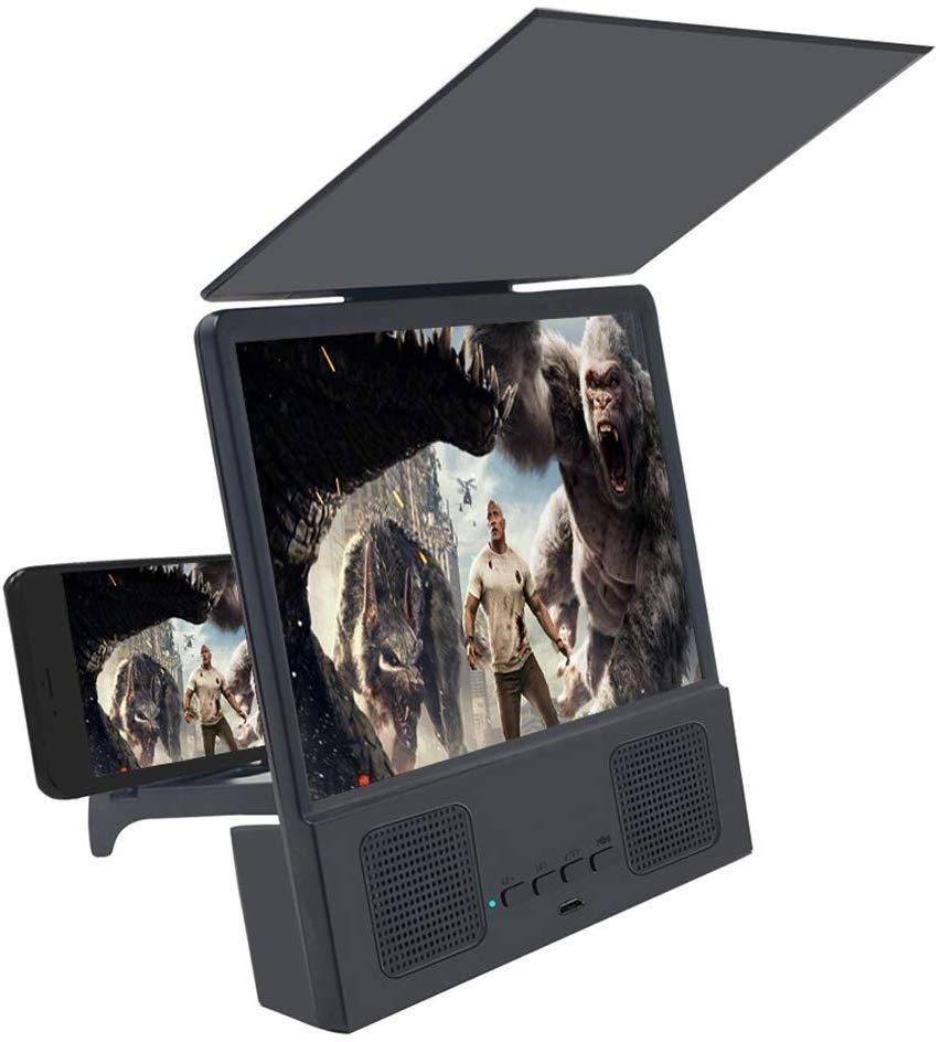 8 Inch 3D Phone Screen Magnifier With Bluetooth Speaker Stand Accessories- stay home stay safe pinkinblack.com