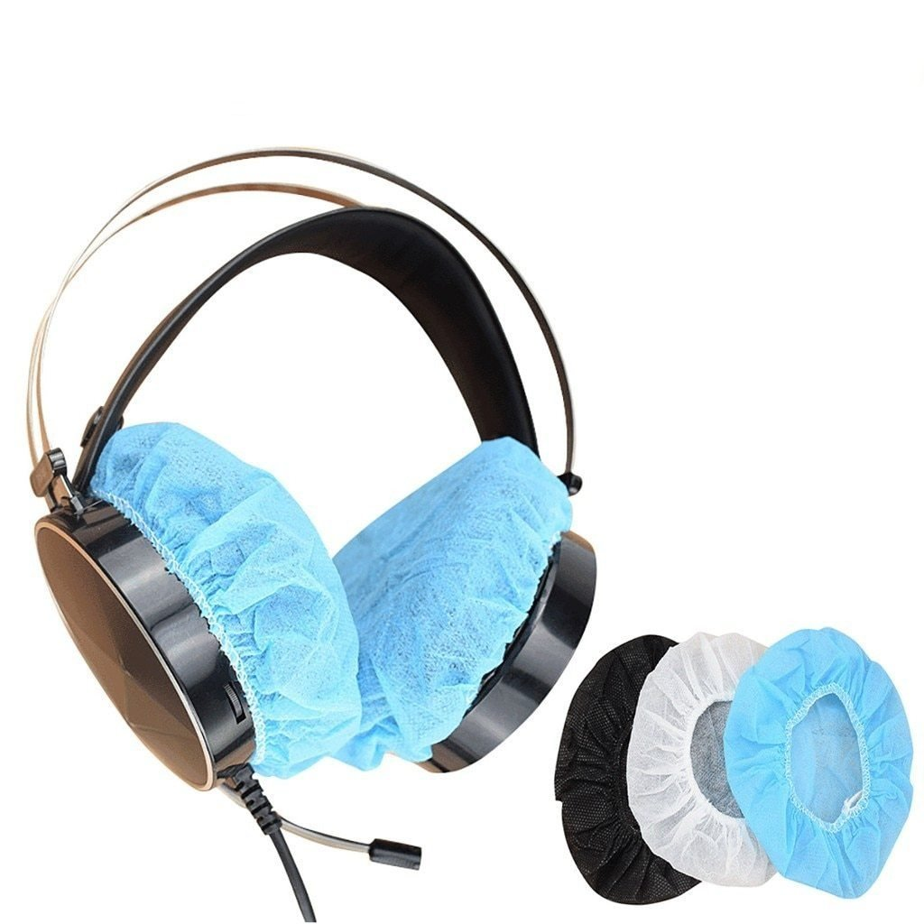 Stretchable Disposable Hygienic Sanitary Ear pads For Headphones MASK pinkinblack.com