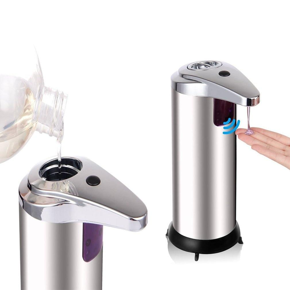 Stainless Steel Automatic Soap &Hand Sanitizer Dispenser Bathroom pinkinblack.com