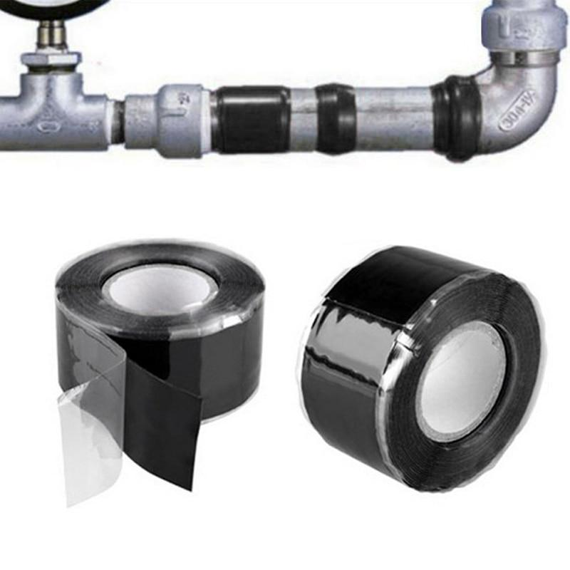 Universal Black Silicone Bonding Tape   Water Pipe Repair (Waterproof) tape pinkinblack.com