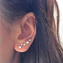 Load image into Gallery viewer, New Crystal Flower Drop Earrings for Women Fashion Jewelry Gold Silver Color Rhinestones Earrings Gift for Party and Best Friend