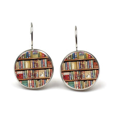 Load image into Gallery viewer, New retro books photo earrings lovers jewelry librarians bookshelf earring gifts writers students teacher Pendant nerd gifts