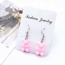 Load image into Gallery viewer, 1 Pair Creative Cute Mini Gummy Bear Earring Minimalism Cartoon Design Female Ear Hooks Danglers Jewelry Gift Jelly Cool Popular
