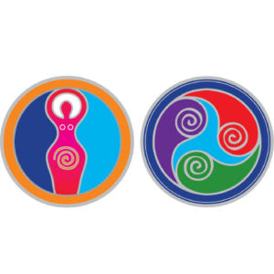 EARTH MOTHER Mandala Sunseal sticker