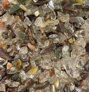 Mixed garden quartz chips 100gm