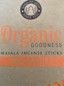 Organic goodness Masala Incense Patchouli