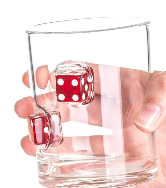Casino Dice Whisky / Drinks Glass