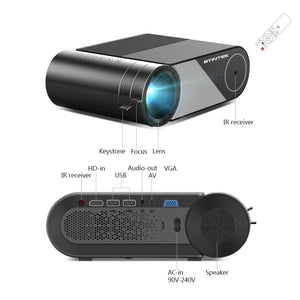LED Projector Portable 1080P Full HD - Outdoor Home Cinema - Man-Kave